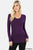 DK Purple Long sleeve V Neck T
