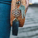 Seed of Life Grey Key Chain