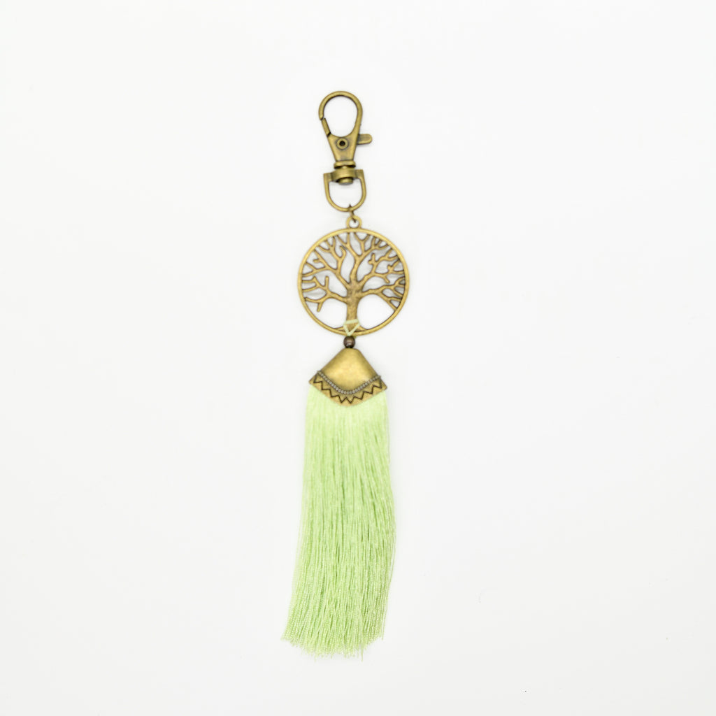 Tree of Life Lime Green Key Chain
