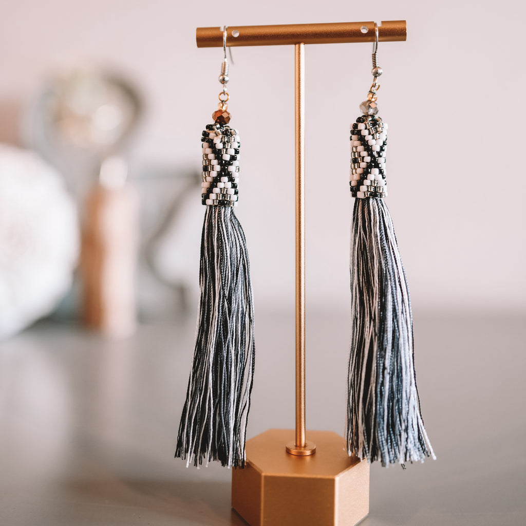 Manik-Manik Tassel Earrings