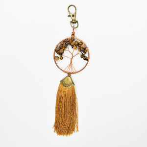 Tree of Life Brown Twist Key Chain