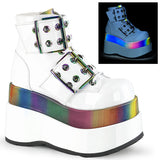 white-patent-rainbow-reflective