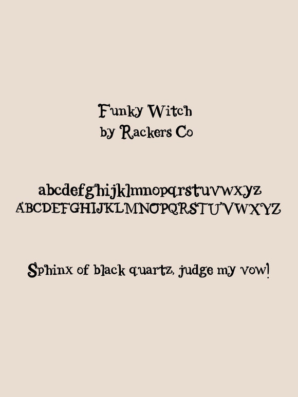 funky witch font