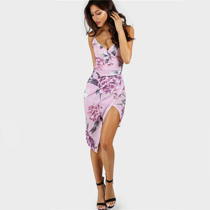 Women's Floral Bodycon Sexy Party Dress - Fashion-Beach.com