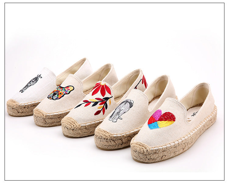Women's Fun Canvas Flat Espadrilles - Fashion-Beach.com