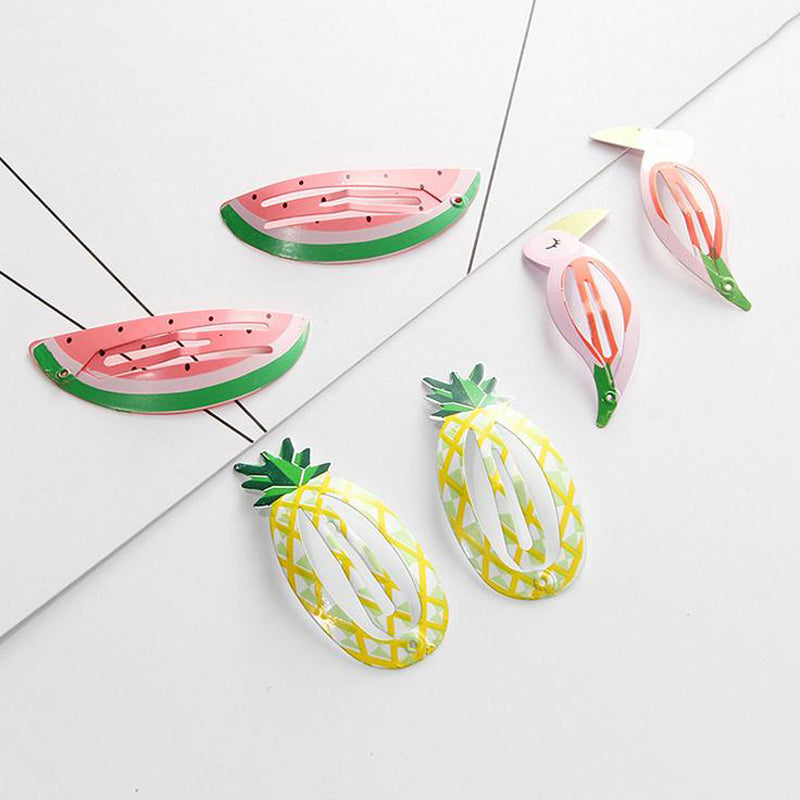Fun Tropical Hair Clips Pineapple Toucan Watermelon Barretts - Fashion-Beach.com