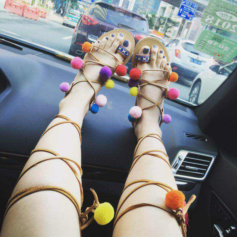Women's Boho Gladiator Lace Up Tassel Sandals - Fashion-Beach.com