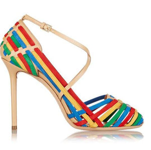Women's Sexy & Fun Rainbow Sandal High Heels - Fashion-Beach.com