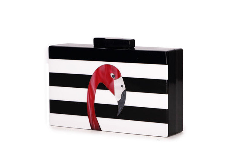 Women's Beautiful & Fun Tropical Pink Flamingo Clutch Purse - Fashion-Beach.com
