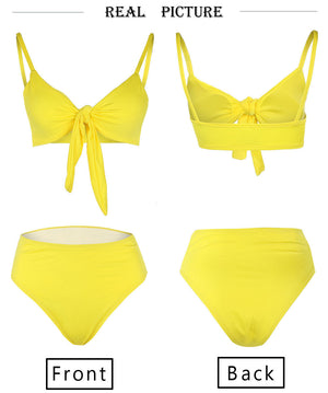Women's High Waisted Cheeky Thong Bikini Set - Fashion-Beach.com