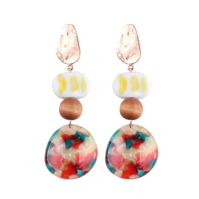 Women's Beautiful Tropical Beach Pendant Earrings - Fashion-Beach.com
