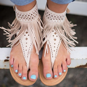 Women Sandals Fashion Tassel Summer Shoes Women 2018 New Flat Sandals Female Flip Flops Plus Size 34-43 Casual Sandale Femme - Fashion-Beach.com