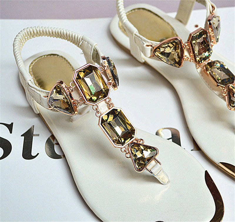 Women's Beautiful Rhinestone Crystal Sandals - Fashion-Beach.com