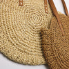 New Natural Ladies Tote large handbag hand-woven big straw bag round popularity straw Women Shoulder Bag beach holiday bag