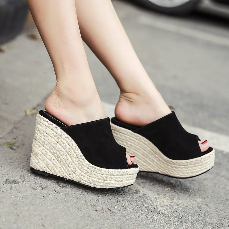 Women's Beautiful Platform Espadrille Wedge Platform Sandals Open Toe Summer Sexy Heel Boho Fashion Shoes - Free Shipping - Fashion-Beach.com