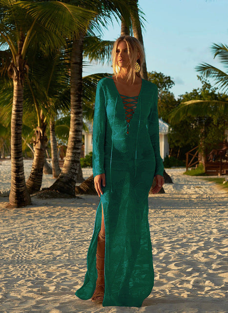 Women's Long Sexy Sheer Beach Cover Up - Fashion-Beach.com