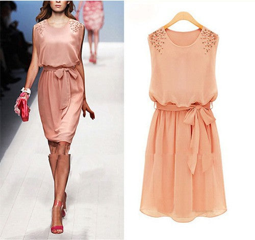 Women's Beautiful & Fun Chiffon Short Sleeve Party Dress - Fashion-Beach.com
