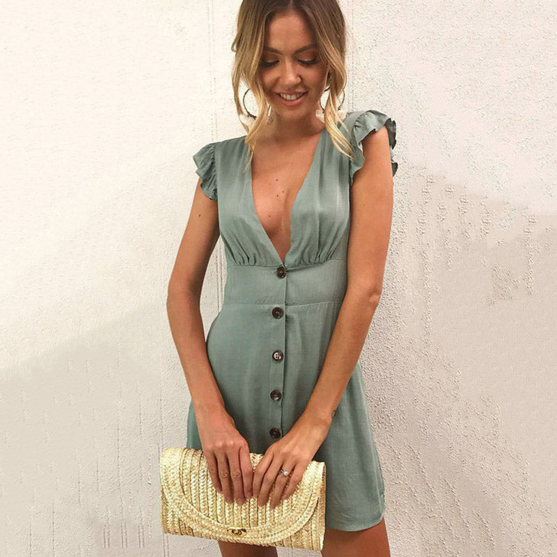 Women's Fun Boho Short Summer Dress - Fashion-Beach.com