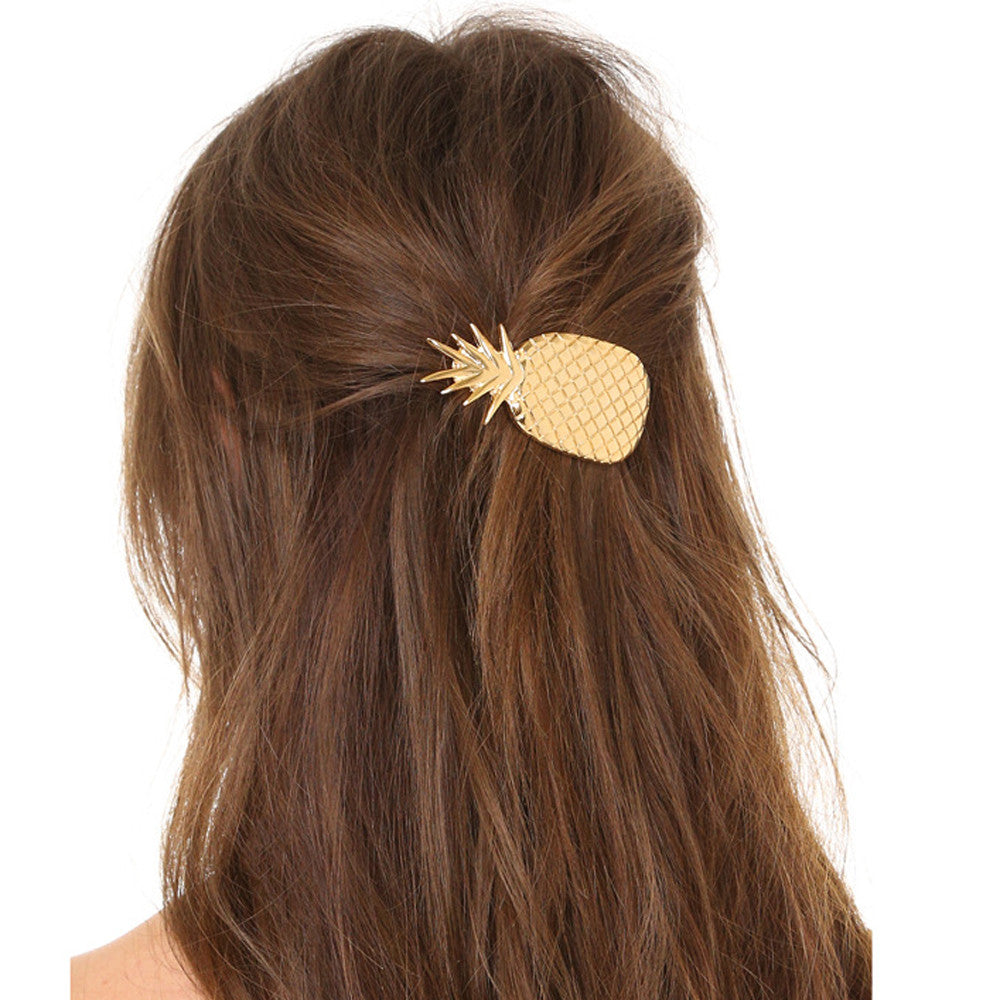 Women's Fun Fashion Hawaiian Pineapple Hair Clip - Fashion-Beach.com