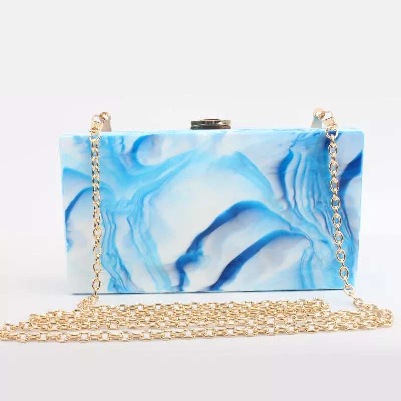 Women's Beautiful Geode Marble Clutch Purse - Fashion-Beach.com