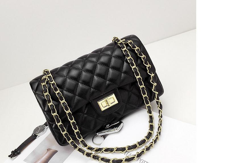 SALE Women's Beautiful Quilted Designer Shoulder Chain Purse Plaid Red Black White Fashion Handbag - FREE Shipping - Fashion-Beach.com