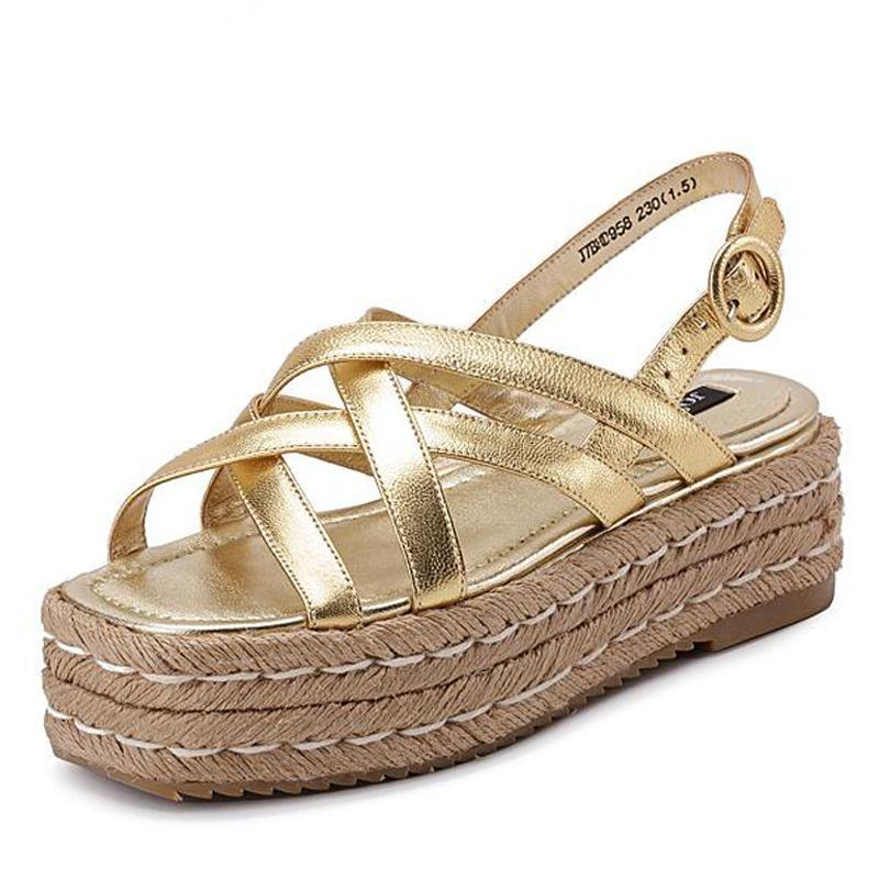 SALE Women's Moroccan Style Platform Espadrille Sandals - Gold or Silver Jute Wedge Island Beach Boho Chic Sandals Shoes - FREE Shipping - Fashion-Beach.com