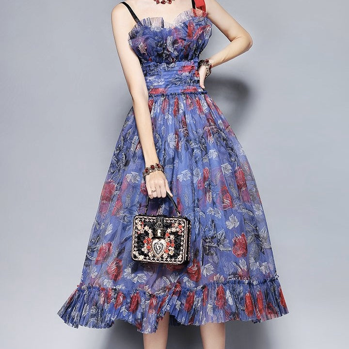Women's Beautiful Floral Cocktail Party Dress - Fashion-Beach.com