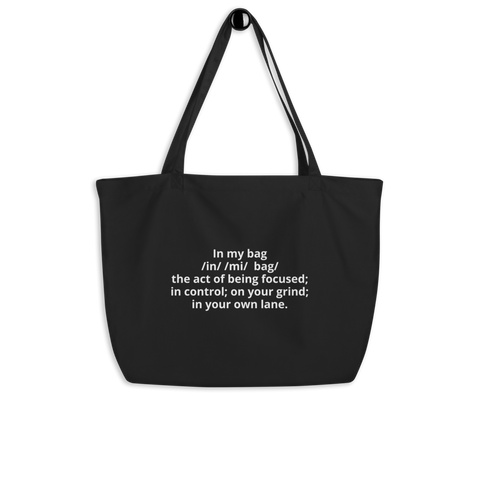 """In My Bag"" tote bag"