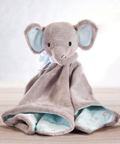 Super Soft Elephant Rattle Blanket