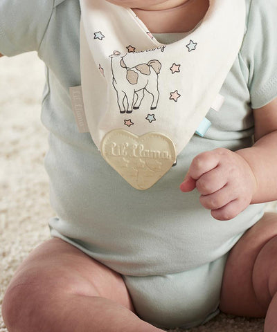 Llama Cotton Teething Bib
