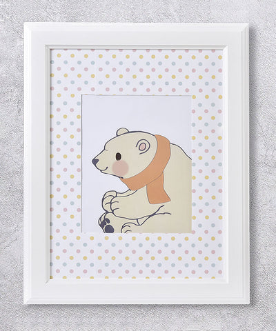 Baby Bear Framed Wall Print