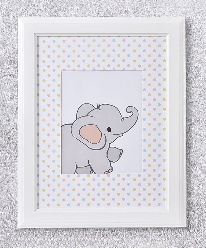 Baby Elephant Framed Wall Print