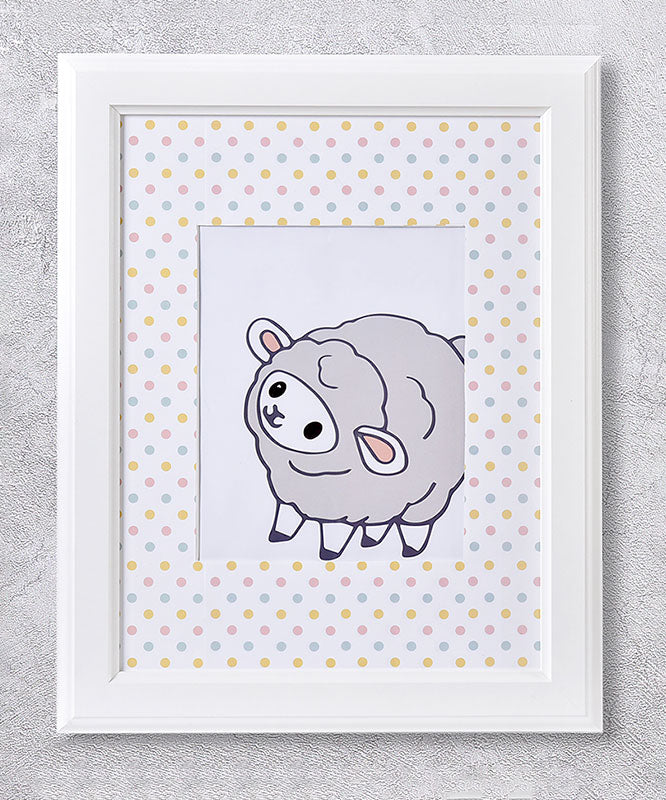 Baby Sheep Framed Wall Print