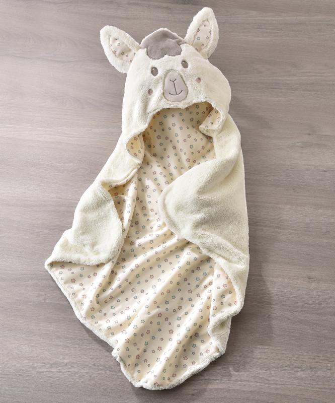 Llama Hooded Bath Wrap Towel