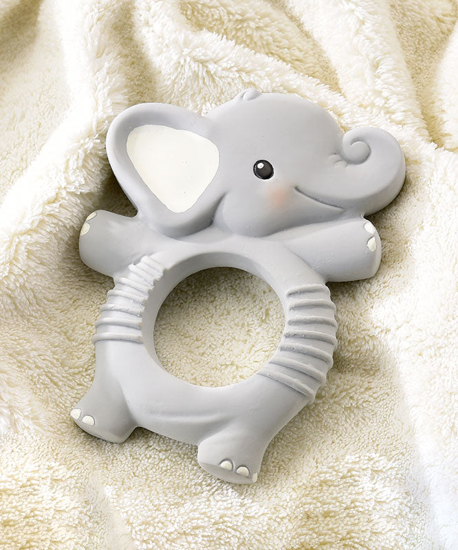 Elephant Natural Rubber Teething Ring
