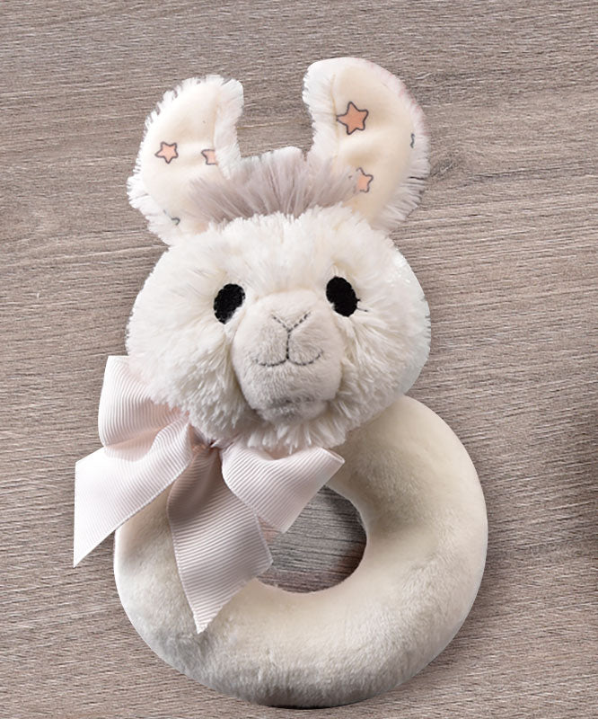 Llama Ultra-Soft Plush Ring Rattle