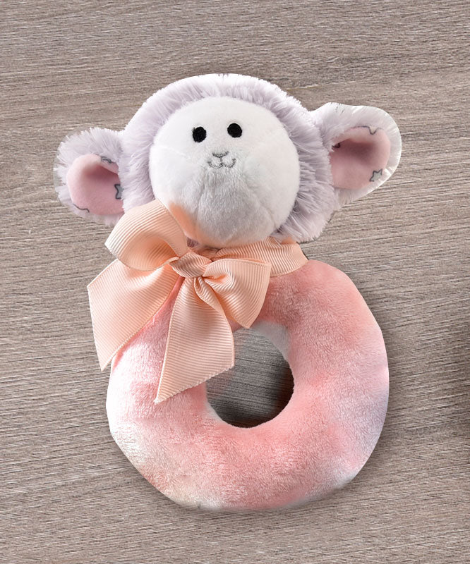 Sheep Ultra-Soft Plush Ring Rattle