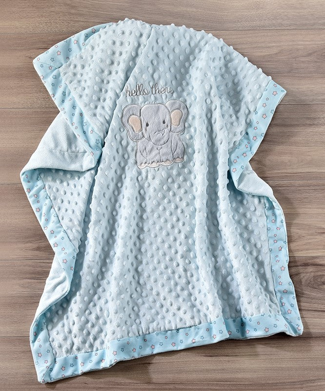 Elephant Double-Sided Baby Blanket