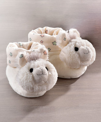 Super Soft Llama Baby Rattle Booties