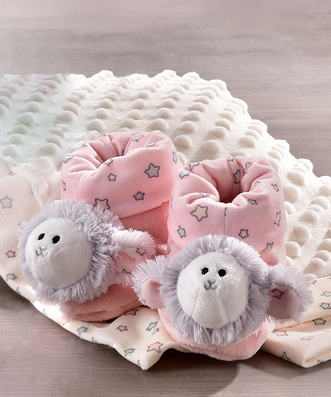 Super Soft Elephant Baby Rattle Booties