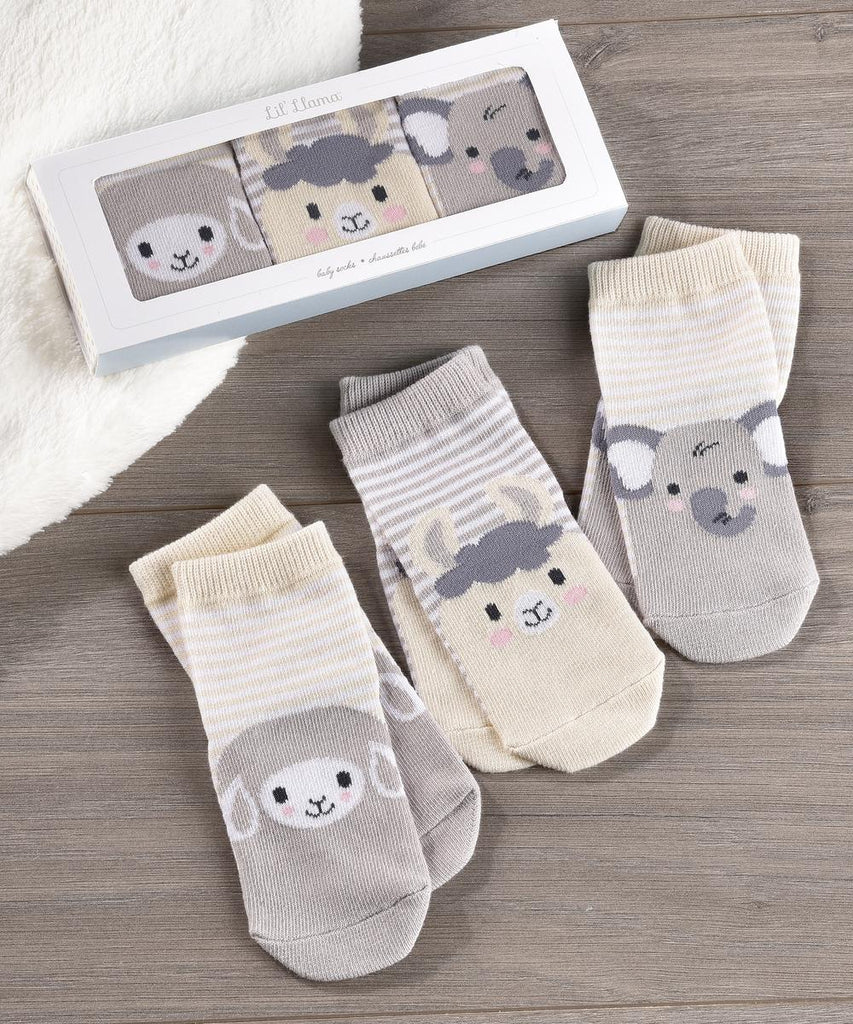 Set of 3 Gift Boxed Baby Socks
