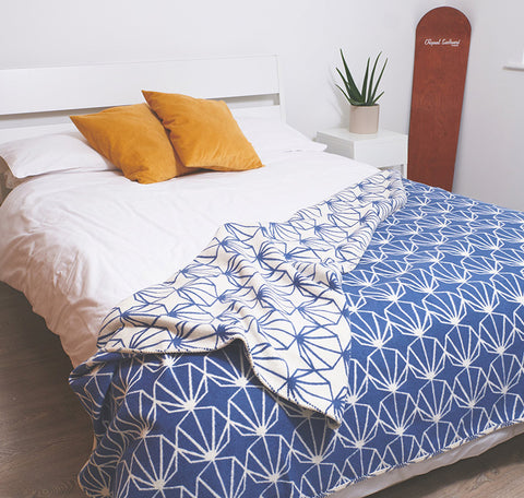 Navy Shell Blanket