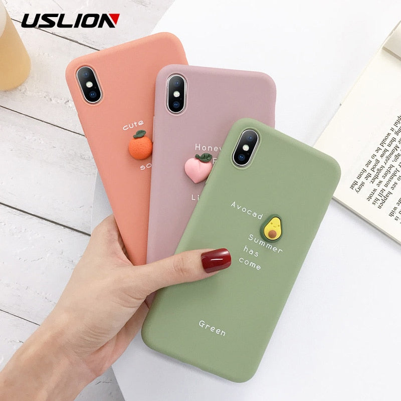 3D Candy Color Soft Phone Case for iPhone