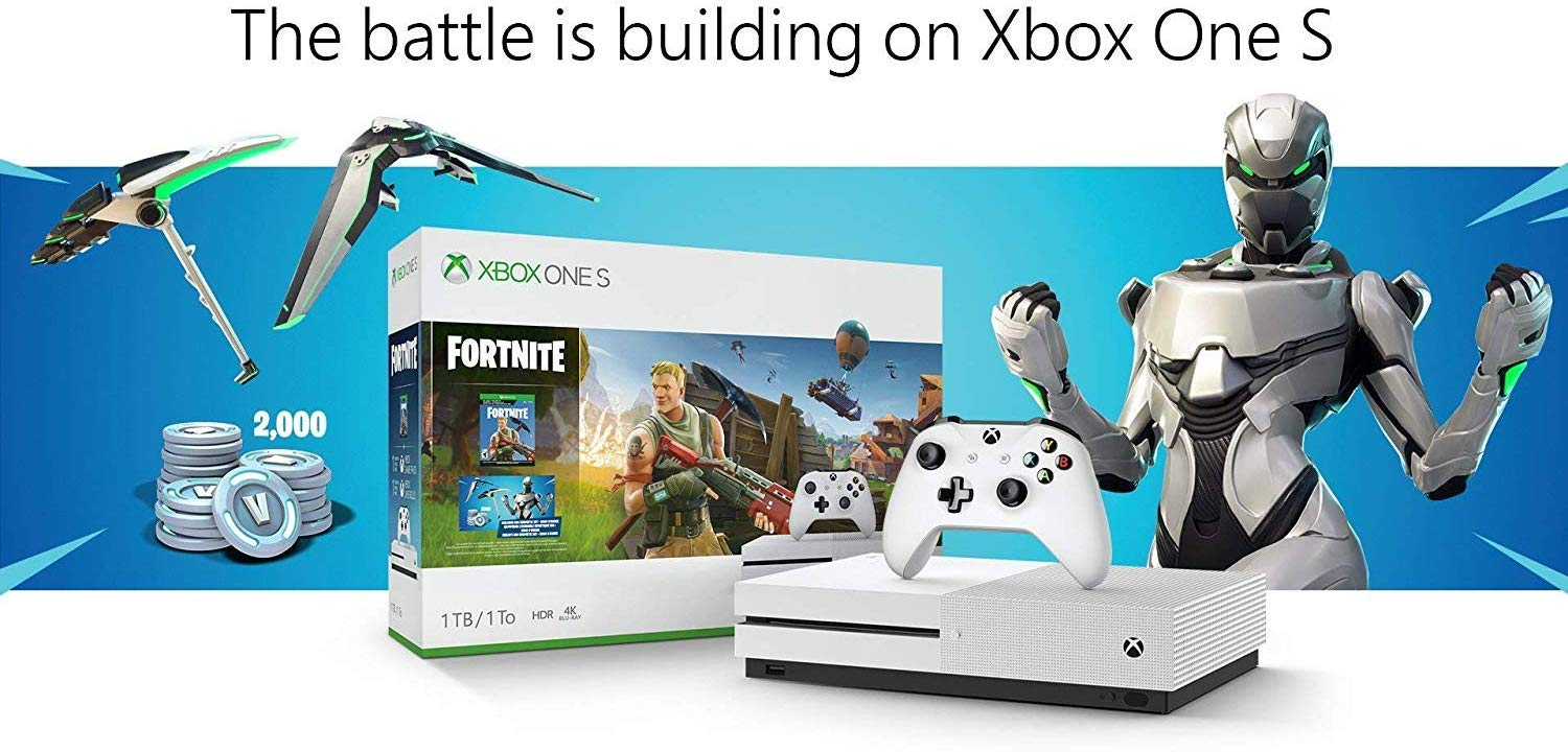 Xbox One S Fortnite Eon Cosmetic Epic Bundle: Fortnite ...