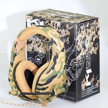Load image into Gallery viewer, ONIKUMA K1 Deep Bass Gaming Headset Camouflage Noise cancelling Headphones Gaming Headphones for PC Cell Phone Xbox One Laptop