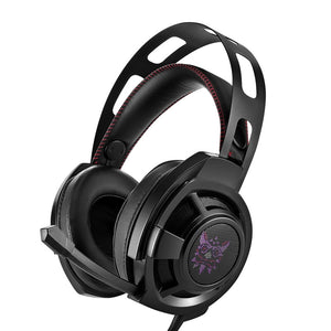 M190 Gaming Headset Wired Stereo Game Headphones Bass LED Lights Noise-canceling Gaming Headphone with Mic for PS4 Xbox Laptop Computer Cellphone (Black)