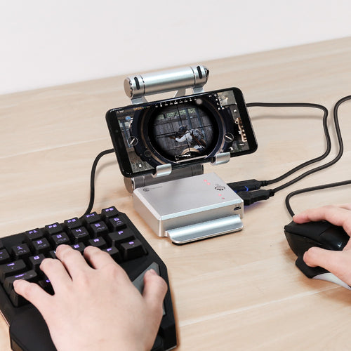 X1 BattleDock Keyboard and Mouse Converter for Mobile Games, Phone Holder, Power bank