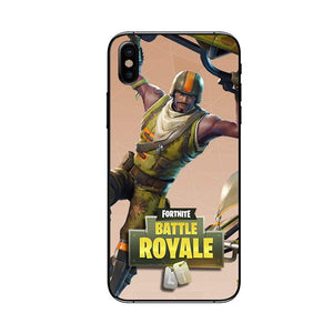 Fortnite Battle Royale Phone Case for iPhone XS Max 7 8 plus  Game Case for iPhone 6 6S 7 8 X 10