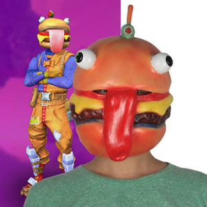 Beef Boss Mask Cosplay Durr Burger Mask and Cosplay from Fortnite Battle Royale