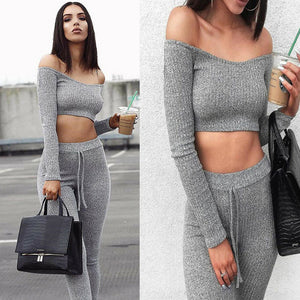 Off-Shoulder Casual Swag Suit